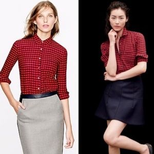[J.Crew] Crinkle Boy Shirt in Red Check